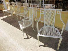 HOLLYWOOD REGENCY GREEK KEY Chairs, set of 8:)