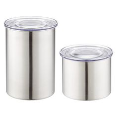 The Container Store Stainless Steel Airscape Canisters (for coffee)