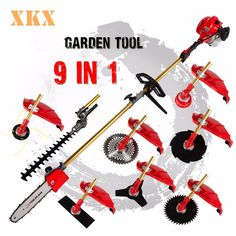 134.80$  Buy here - http://ali6tw.worldwells.pw/go.php?t=32669413530 - High Quality 52cc  9 in 1 Petrol Hedge Trimmer Chainsaw Strimmer Brush Cutter Extender Garden Tool factory selling directly