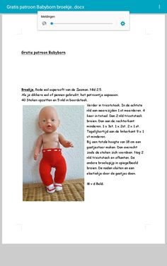 Knitting Dolls Clothes, Doll Clothes, Baby Knitting Patterns, Doll Patterns, Cross Stitch Baby, Baby Born, Barbie And Ken, Diy Doll, Paw Patrol