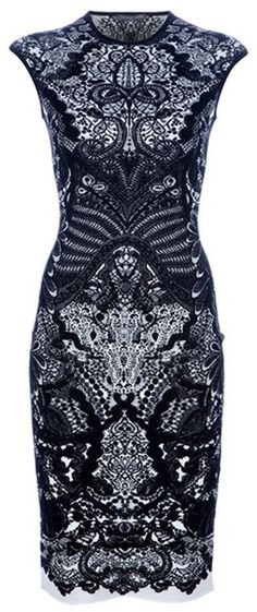 Alexander McQueen ~ Fitted Paisley Dress