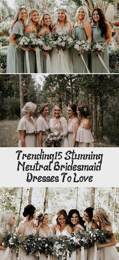 neutral champagne bridesmaid dresses #obde #weddingideas2019 #NeutralBridesmaidDresses #BridesmaidDressesMuslim #BridesmaidDressesMismatched #TanBridesmaidDresses #BridesmaidDressesLong