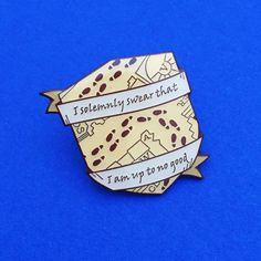 I Solemnly Swear That I Am Up To No Good Enamel Lapel Pin Badge | hand over your fairy cakes