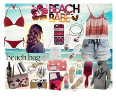 """""""Beach Babe"""" by nrhappy ❤ liked on Polyvore featuring even&odd, Converse, Dorothy Perkins, Samudra, South Beach, Hermès, Sephora Collection, H&M, Jimmy Choo and BlissfulCASE"""