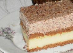 pecivo z vanilijevo in čokoladno kremo, obloženo s piškoti in sladko smetano Sweet And Salty, Cakes And More, Vanilla Cake, Tiramisu, Cheesecake, Sweets, Cooking, Ethnic Recipes, Food
