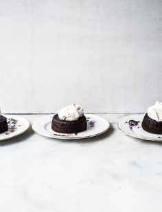 Salted Caramel Filled Molten Chocolate Cakes