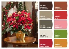 ColorSnap by Sherwin-Williams – ColorSnap by Reyhan S. Red Colour Palette, Color Palettes, Coral Bells, White Ducks, Vintage Holiday, Brown Wood, Little Houses, Marigold, Clay Creations