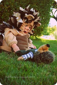 cute halloween costume - Click image to find more DIY & Crafts Pinterest pins. Hedgehog! @Kathryn Kelley