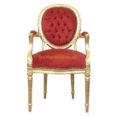 Barok medaillon de paris maison gold red | Le Chique Wonen