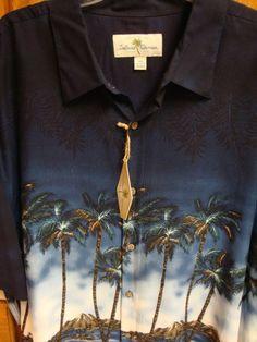 ISLAND SHORES Mens Shirt XXL Hawaiian Tropical  #ebay #IslandShores #Hawaiian