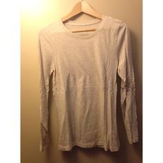 J Crew tissue tee heathered oatmeal tissue tee, long-sleeved, by J Crew, worn only once J. Crew Tops Tees - Long Sleeve