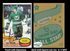 HOF Mark Howe Signed 1980 Topps #91 All Star Whalers Trading Card SL Authentic . $12.00. Hall of Fame National Hockey League DefensemanMark HoweHand Signed 1980 Topps Second Team All Star  #91 Trading CardHowe Played For:Houston Aeros (WHA) 1973-1977New England Whalers (WHA) 1977-1979Hartford Whalers 1979-1982Philadelphia Flyers 1982-1992Detroit Red Wings 1992-1995Howe was inducted into the Hockey Hall of Fame in 2011.GREAT AUTHENTIC MARK HOWE HOCKEY COLLECTIBLE!!AUT...
