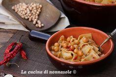 La cucina di Nonna Sole: Lagane e ceci... Per Quanti modi di fare e rifare Macaroni And Cheese, Ethnic Recipes, Cooking, Kitchen, Mac And Cheese, Brewing, Cuisine, Cook
