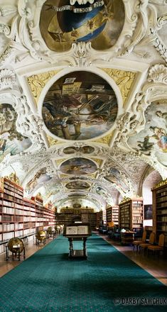 The Theological Library at the Strahov Monastery in Prague, Czech Republic • Photo: Darby Sawchuk