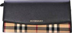 Burberry Horseferry Check Black Leather Continental Wallet