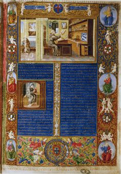 Biblia dos Jeronymos, Vol. I, Frontispicio II. Portugal