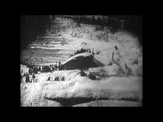 SNOW FALLS SKIING BW SILENT 6 MINS THE ALPS