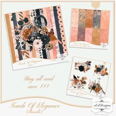 Touch of Elegance - Bundle by #AADesigns #scrapbooking #Digiscrapbooking - You can find it at my stores, visit my blog to find them: http://aadigitalart.blogspot.com.br/.