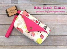 The Miss Sarah Clutch Purse to Sew in Two Sizes - A #Sew and Sell PDF #Sewing Pattern from Imazzpatterns