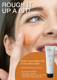 FACIAL SCRUB gnld NUTRIANCE                            Crema esfoliante purificante delicata per stimolare  la circolazione e lasciar la p...
