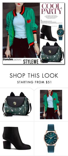"""""""STYLEWE 07 /10"""" by esma178 ❤ liked on Polyvore featuring Alexander Wang, Henry London, bag, cardigan, cat and stylewe"""