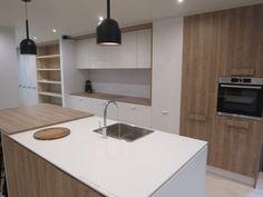 Nikpol showroom Product- Egger Grey beige Gladstone oak, Premium white compact, Motivi Pure white Luster board, Premium white, Nikpol storage solutions