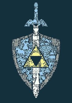 The master sword and shield from the Legend of Zelda series are the coolest weapons in video games. The Legend Of Zelda, Nintendo, Wallpapers Geeks, Image Zelda, Deco Gamer, Pedobear, Image Manga, Link Zelda, Zelda Breath