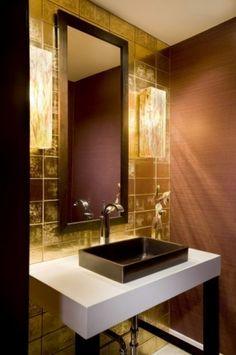 gold powder room