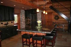 Kitchen Photos Log Cabin Kitchens Design Ideas, Pictures, Remodel, and Decor - page 4