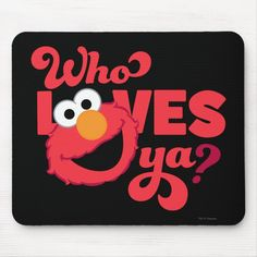 Alfombrilla De Ratón Amor Elmo | Zazzle.com Create Your Own, Create Yourself, Elmo Sesame Street, Custom Mouse Pads, Corner Designs, Marketing Materials, Love, Gender, Group