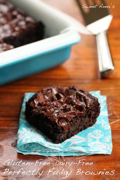 Perfectly Fudgy Gluten-Free Dairy-Free Brownies