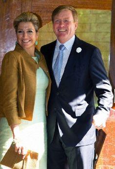 Dutch King Willem-Alexander and Queen Maxima visit the culture center Antropia in Driebergen, Netherlands, 26.06.2014.