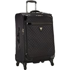 31ad1f78a6da7 GUESS Travel Gleem 4-Wheel 24-Inch Spinner Upright (Black) GUESS http