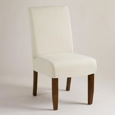 One of my favorite discoveries at WorldMarket.com: Linen Short Anna Chair Slipcover
