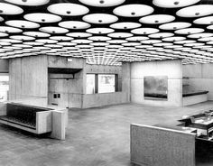 MARCEL BREUER, Concrete interior at the Whitney Museum, 1963-1966, Manhattan, NY.