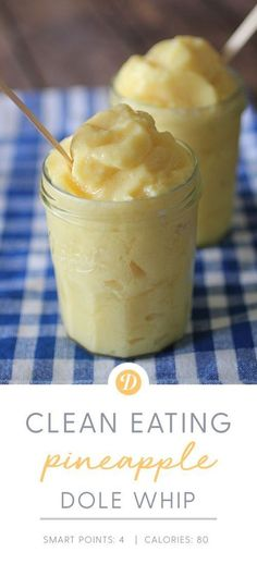 Clean Eating Pineapple Dole Whip eating breakfast eating dinner eating for beginners eating for weight loss eating grocery list eating on a budget eating plan eating recipes eating snacks 100 Calories, Healthy Desserts, Dessert Recipes, Eat Healthy, Healthy Dessert Smoothies, Pineapple Recipes Healthy, Healthy Sweet Snacks, Ww Desserts, Healthy Recipes