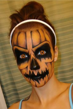 Rotten Pumpkin Halloween makeup tutorial - Wow - awesome job!