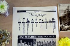 Love this wedding Timeline / order of service idea!