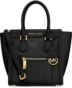 MICHAEL Michael Kors Colette Medium Messenger Bag, Black