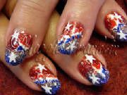 red white and blue marine corps nail art