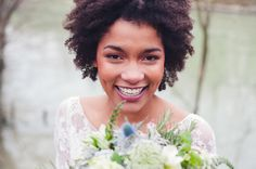 Your smile sets the stage for an amazing day #naturalhairbride