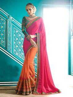 #Designer# Indian #ethinc #Bridal #Party wear #Indian #Pakistani #Designer #Silk Saree #Handmade #saree