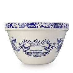 Blue Heritage Pudding Basin 1.5ltr/ 2.5pt Basin, Craftsman, Pudding, Blue And White, Pottery, Tableware, Farms, Decoration, Christmas