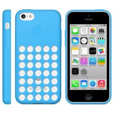 Official Apple Dot Silicone Rear Case Cover for iPhone 5C in Blue - GadgetWear  - 1