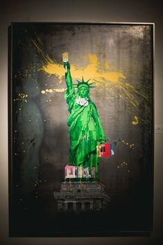 Statue of Liberty, by Mr. Brainwash, pop art.