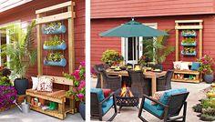 Vertical Planter Bench