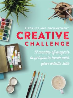 Elegance and Enchantment Creative Challenge - Get in touch with your artistic side with these 12 projects! Art Prompts, Art Challenge, Challenge Accepted, Lettering, Art Education, Motivation, Art Tutorials, Creative Inspiration, Art Lessons