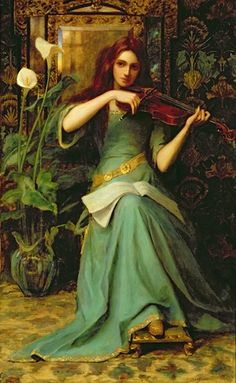 Henry Harewood Robinson, Girl with a violin