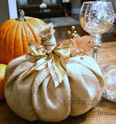 DIY Burlap Pumpkin ... so cute and cheap!!