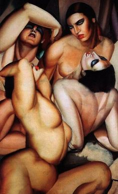vili-ve:  Tamara de Lempicka - Irene and her sisters